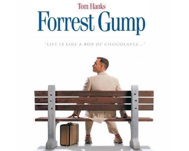 En la imagen se ve la foto de la película, Forrest Gump, un joven con discapacidad intelectual