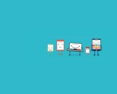 Ilustración de varias pantallas de dispositivos móviles, con brazos y manos. Crédito: Nearpod.