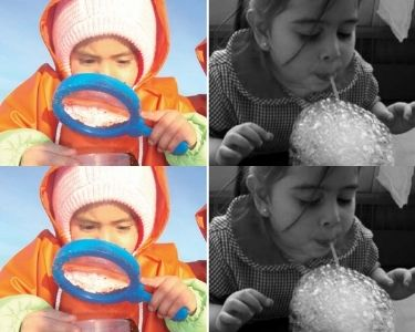 Niñs haciendo ciencias