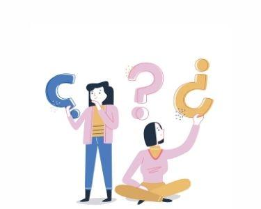 Ilustracion de dos mujeres sosteniendo signos de interrogación. Crédito: Freepik.