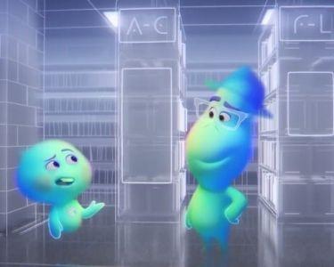 """Fotograma de Joe y 22, protagonistas de la película """"Soul"""" de Pixar, estrenada en la plataforma de Disney Plus."""