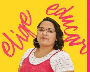Retrato de María José, futura profesora y parte de la campaña Elige Educar el Chile Que Viene