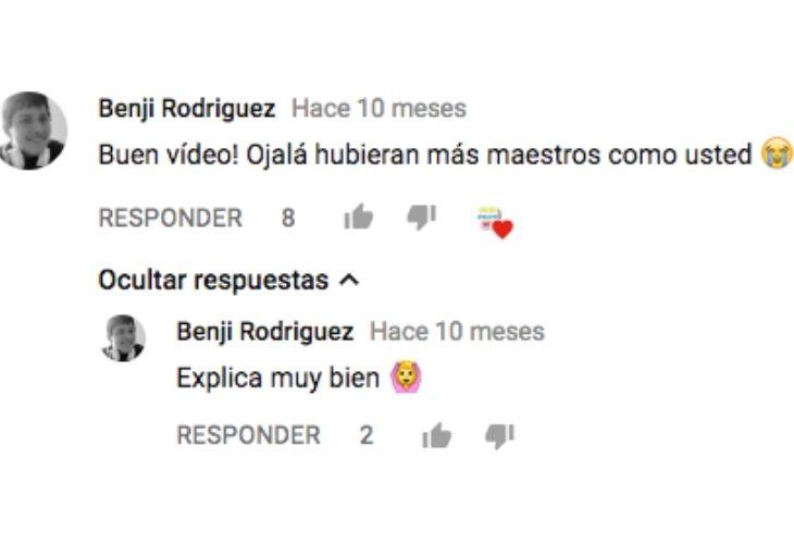 Comentarios de los videos del profesor