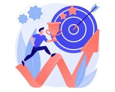 En la imagen se ve la ilustración de un estudiantes que mejora su desarrollo de las competencias