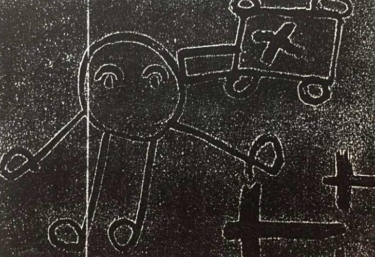 Dibujos de niños y niñas representando el espacio a través de dibujos