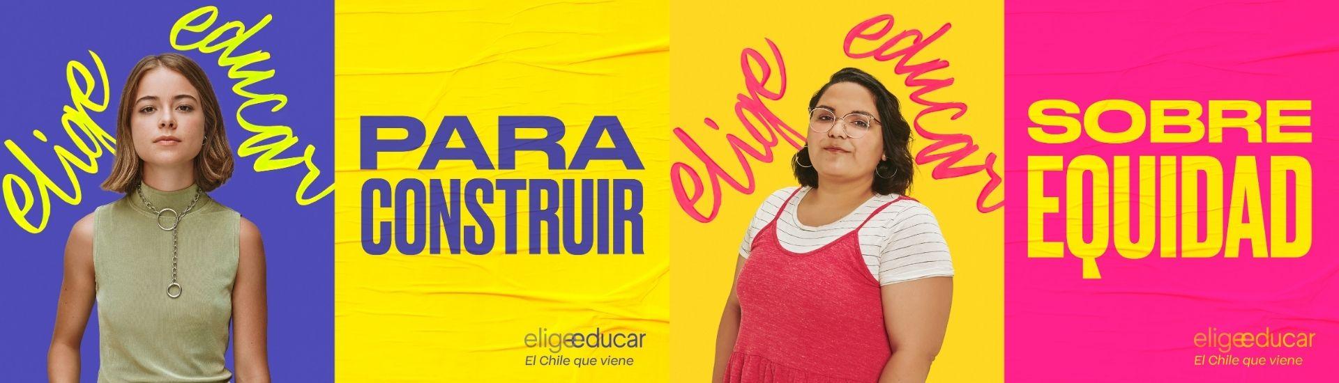 Dos retratos de dos Daniela y María José, futuras profesoras que son parte de la campaña Elige Educar el Chile Que Viene