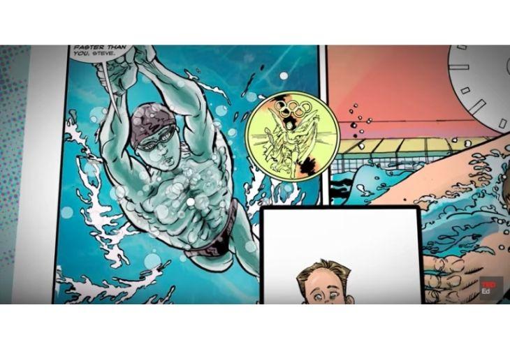 Escena de un comic (