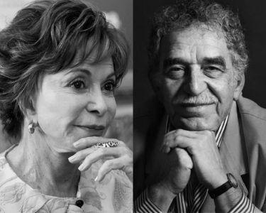 En la imagen se puede apreciar 5 fotos de los escritores y escritoras latinoamericanos, todas en un primer plano y en blanco y negro.