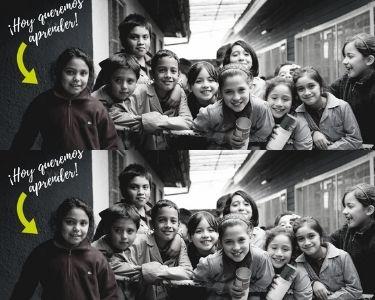 fotografía de estudiantes