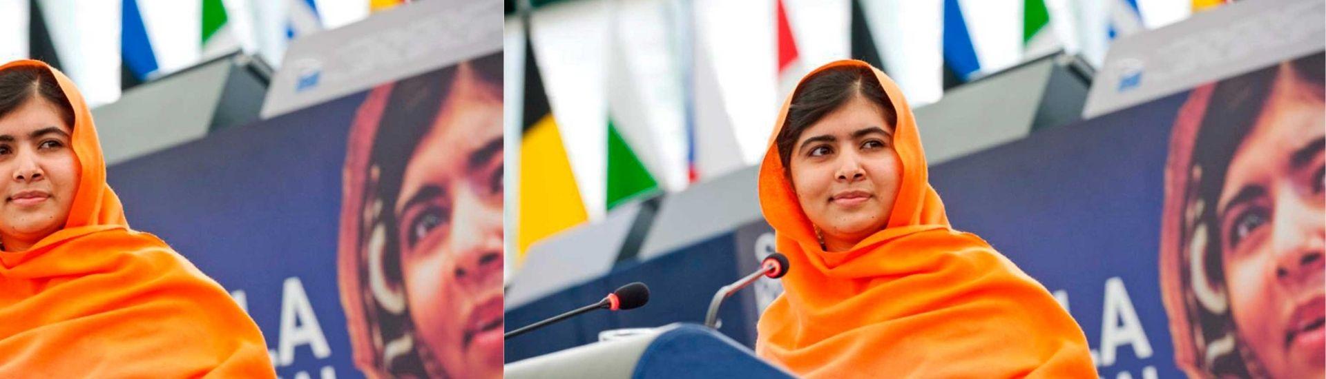 Fotografía de Malala