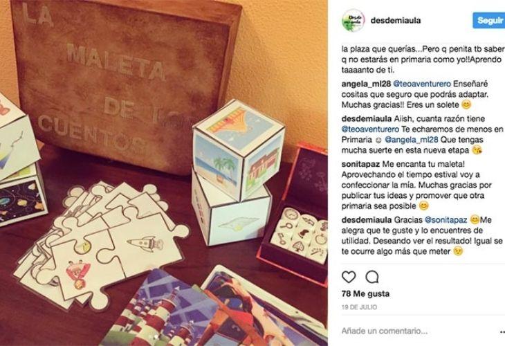 Fotos de instagram sobre la maleta de los cuentos