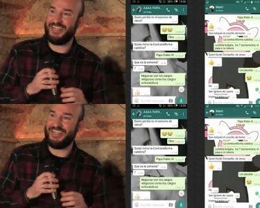 Fotos de padres y captura de pantalla de wsp