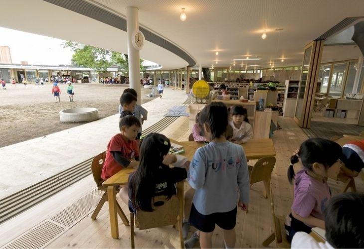 Fuji Kindergarten y niños_as en el