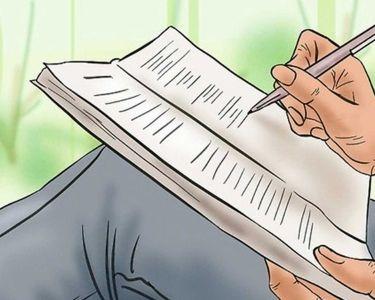 Ilustración de escritura de ensayo