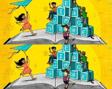 Ilustración de estudiantes aprendiendo