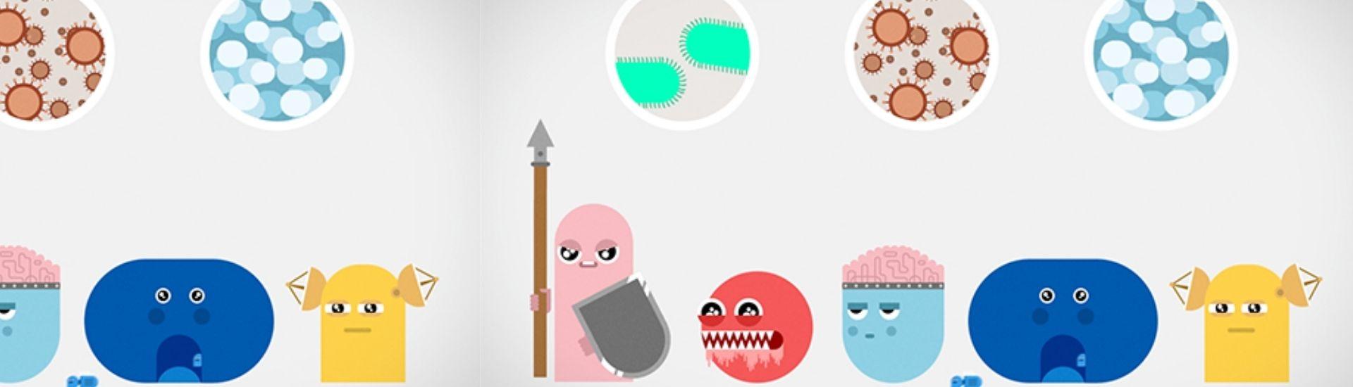 Ilustración de sistema inmune