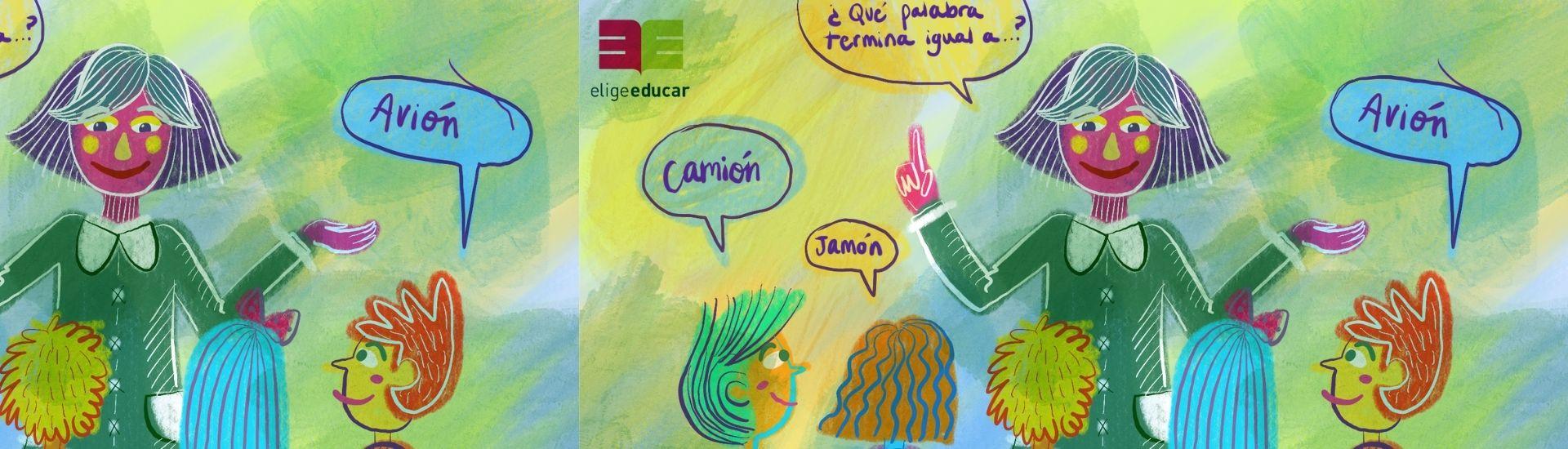 Ilustración de una clases que potencia la conciencia fonológica