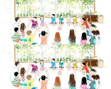 Ilustración de una sala de clases