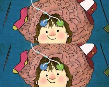 Ilustración del cerebro de un niño-a y como aprende