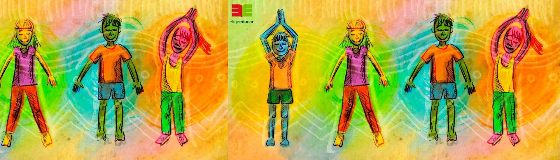 Ilustración ejercicios de yoga