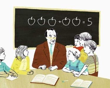 Ilustración sala de clases