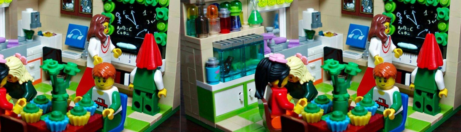 Legos recreando trabajo en rincones