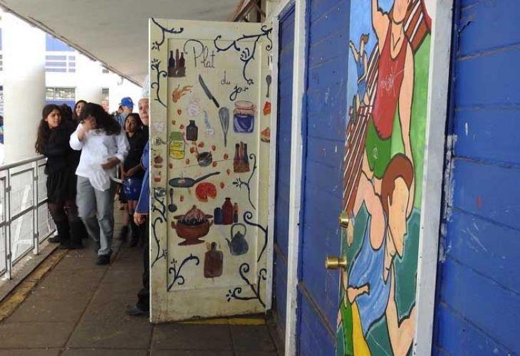 Muros de Centro de Educación Técnico Profesional de Maipú