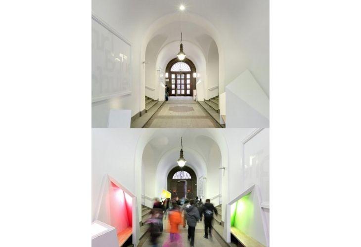 Pasillo de estudio de arquitectura