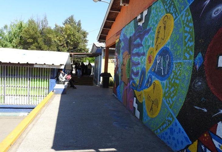 Patio del Centro de Educación Técnico Profesional de Maipú