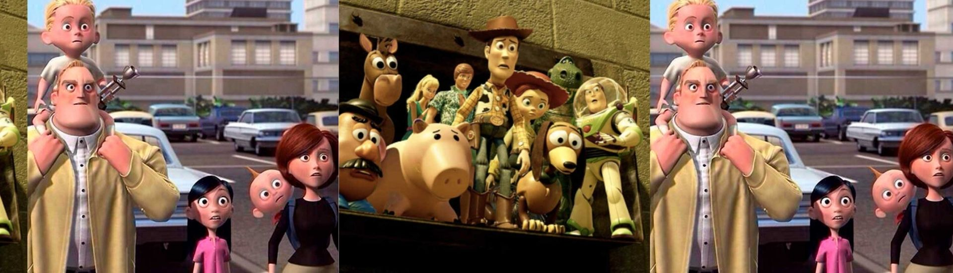 Portadas de películas: Toy Story e Increíbles