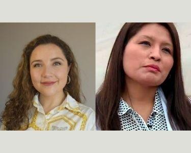 dos profesoras, Fabiola y Militza, ambas en fotografías de primer plano donde se ven sus rostros.
