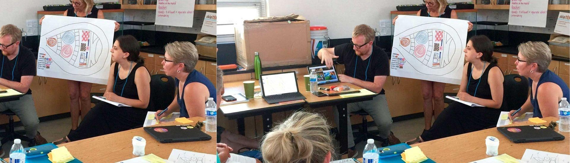 Profesores observando el método de proyectos