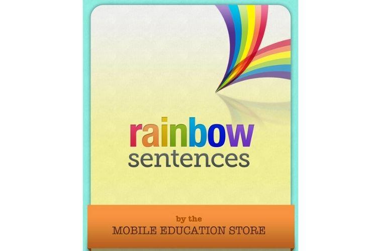 Rainbow app para desarrollar la esccritura en los niños