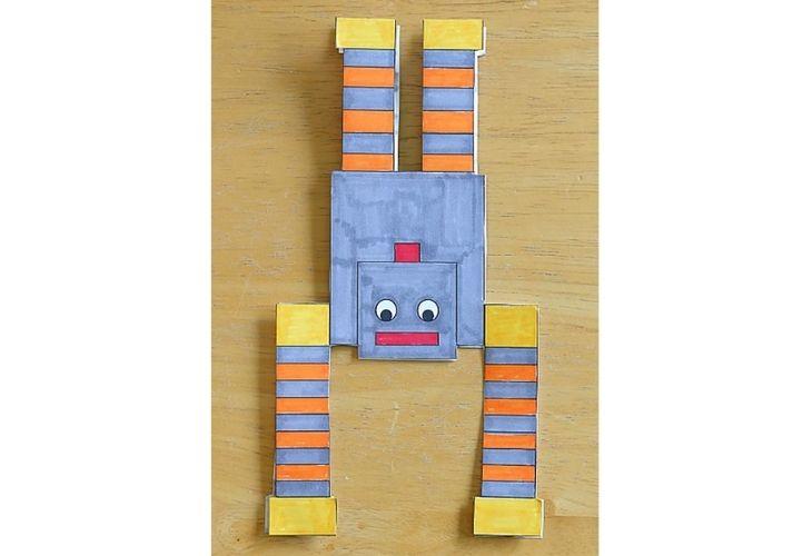 Robot casero con papel