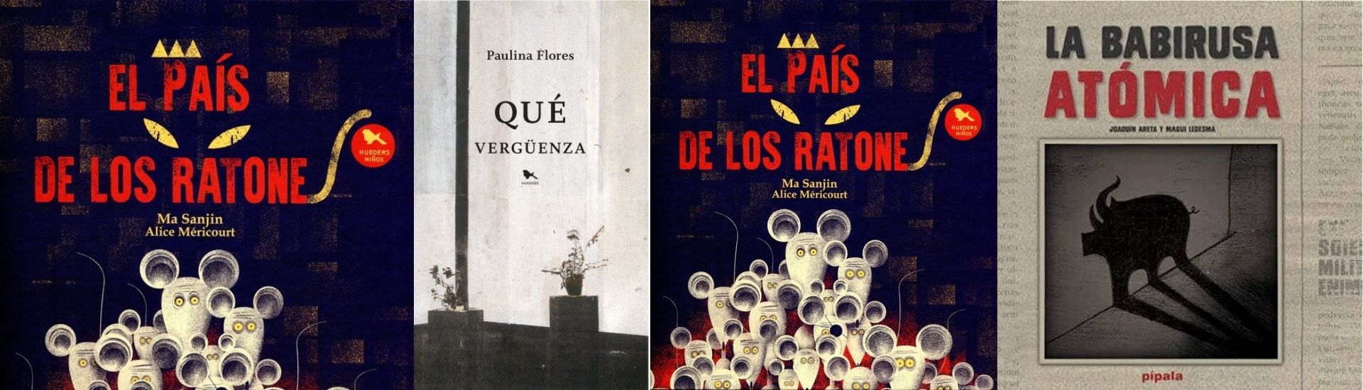 Portadas de varios libros, que sirven para hablar de desigualdad