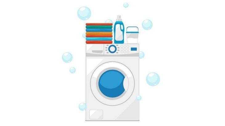 Una lavadora llena antes de ecenderla