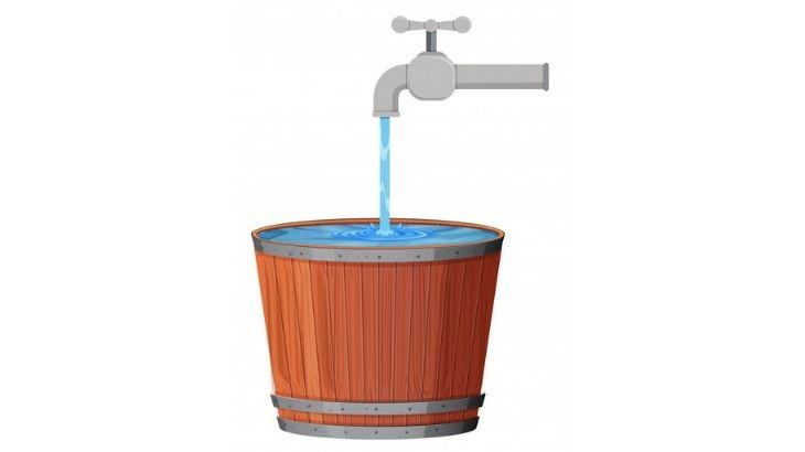 Reutilizar el agua en cubetas
