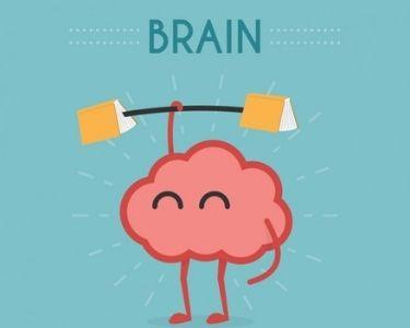 En la imagen aparece un cerebro con una pesa, transmitiendo la importancia de ejercitarlo