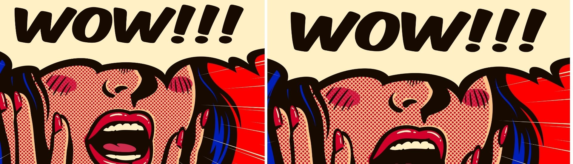 Imagen de una mujer gritando WOOOOW, con las manos en la cara, en alusión a los cómics matemáticos desarrollados por la profesora Suzanne