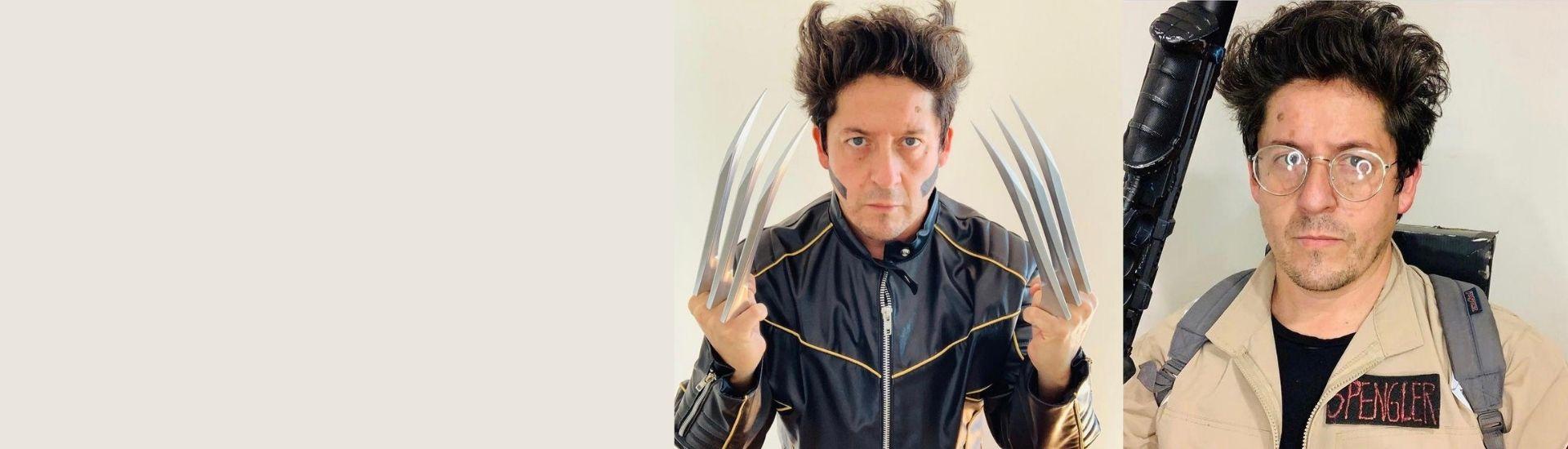 Interpretaciones del profesor Carlos con diferentes cosplay