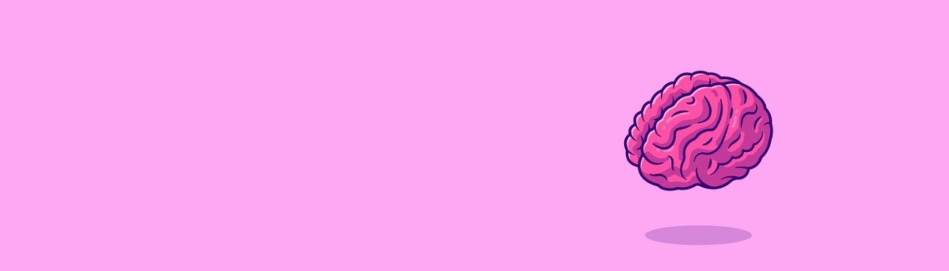 Ilustración de un cerebro rosado, en alusión a la nota sobre mitos sobre el aprendizaje