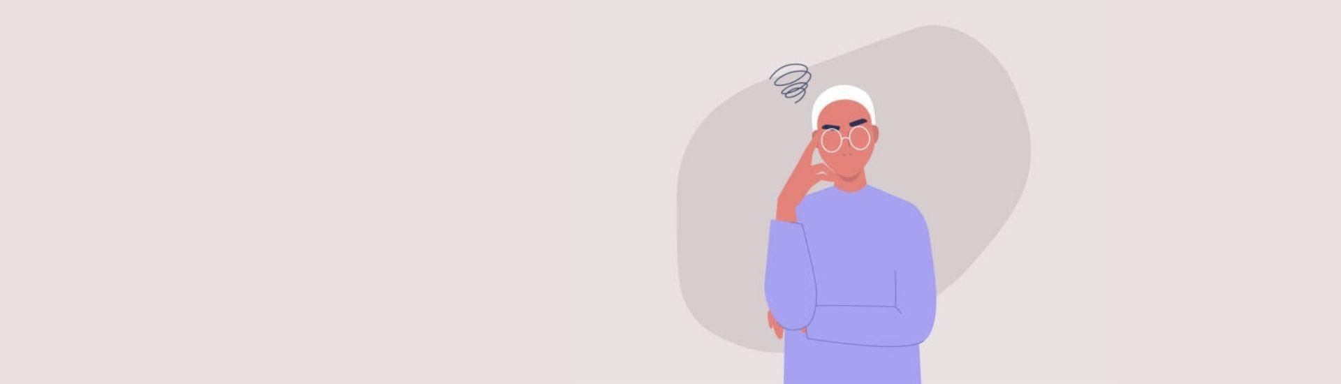 Ilustración de un estudiante que intenta encontrar su identidad