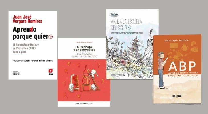 Portadas de cuatro libros que sirven como introducción a la metodología ABP