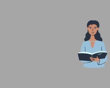 Imagen de una docente leyendo un libro, en alusión a una posible lectura de las propuestas sobre cómo enfrentar la baja de matriculados en pedagogía