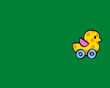 Imagen de un pato sobre ruedas, en alusión a las propuestas de rincones de trabajo de contenidos sobre ruedas