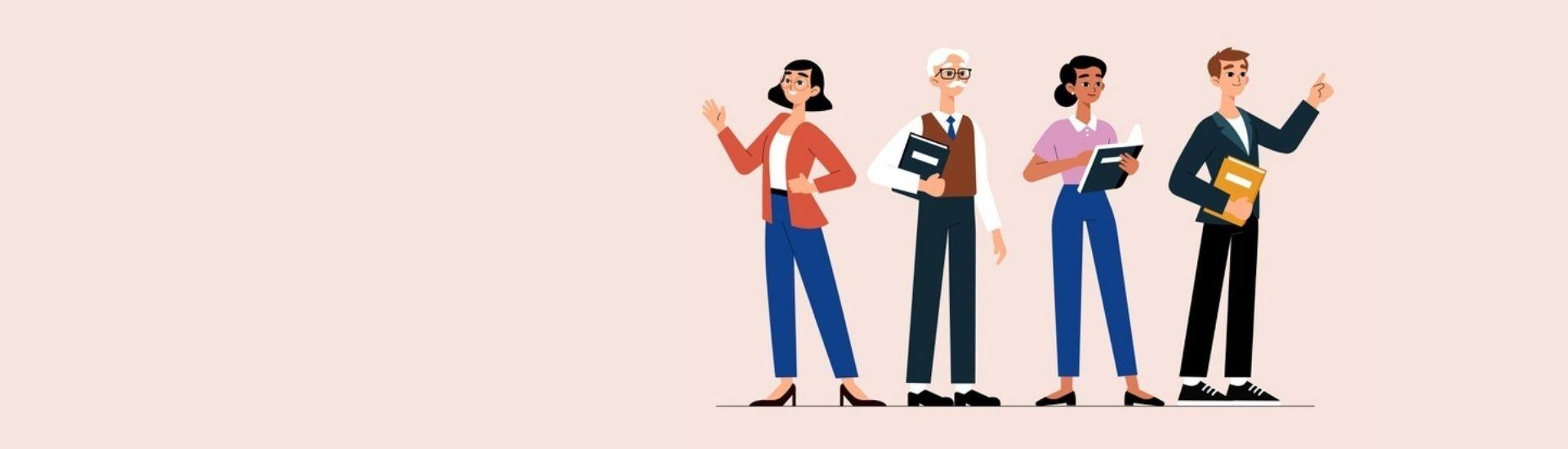 Imagen de varios docentes en alusión a un texto que habla sobre la importancia de la frases motivacionales a estudiantes. Imagen de Freepik