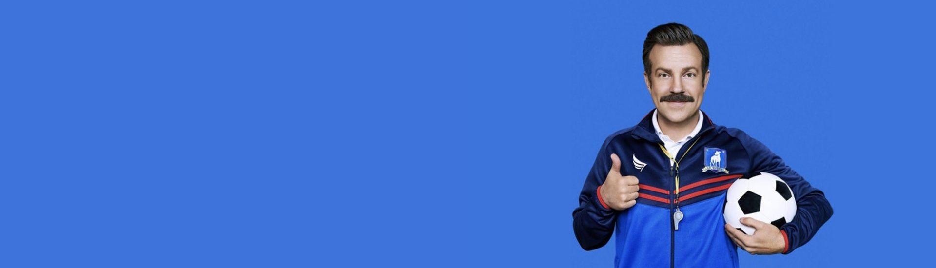 Imagen de Ted Lasso, protagonista de la serie del mismo nombre que se transmite en Apple TV